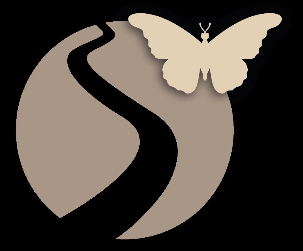 De vlinder langs de weg van rouw